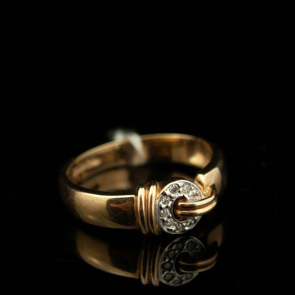 Sõrmus 585 kuld, briljandid