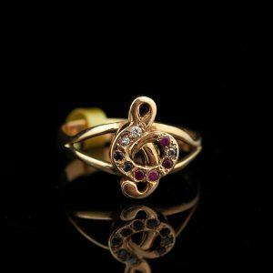 """Sõrmus """"Noodivõti"""" 585 kuld"""