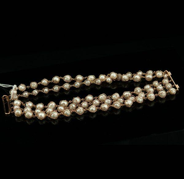Käevõru 585 kuld pärlitega