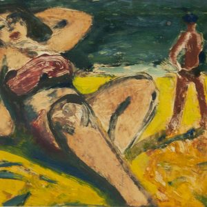 Valdur Ohakas (1925-1998) woman on a beach, Estonian art