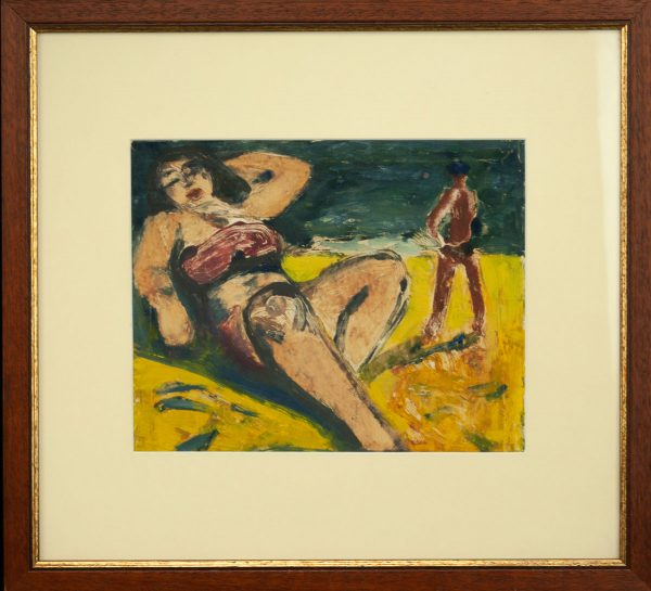 Valdur Ohakas (1925-1998) Naine rannas