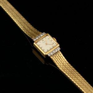 PATEK PHILIPPE  women's gold 750 wrist watch with diamonds