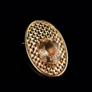 Pross-ripats - 585 kuld topaasiga