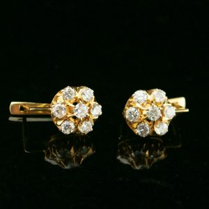 Diamond earrings with gold 750