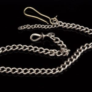 Antique Imperial Russian silver 84 pocket watch chain