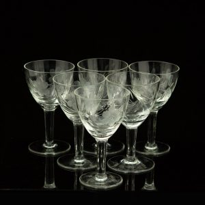 Set of 6 Estonian crytal glasses