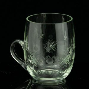 Set of 4 Estonian glass cups by Helga Kõrge