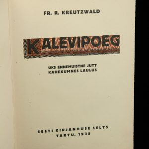 Taska Leather cover Kalevipoeg book 1935