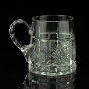Antique Estonian crystal beer mug