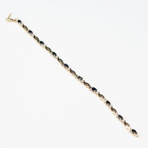 585 Gold Bracelet with sapphires & diamonds