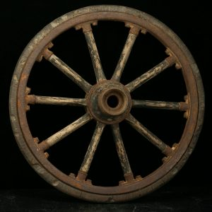 Set of 4 antique wood wheels for car?