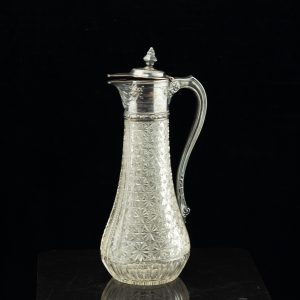 Antique Estonian 875 silver crystal jug