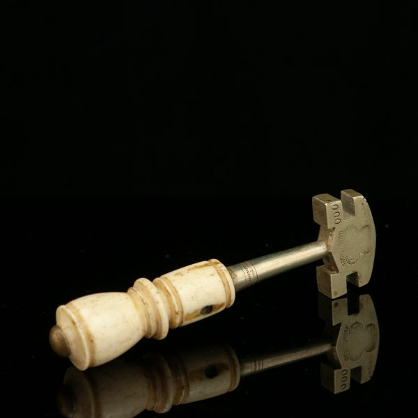 Antique Imperial Russian glass cutter , bone handle