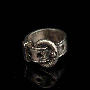 Belt shaped 925 silver ring