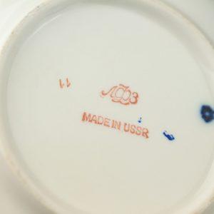 Cobalt netting porcelain LFZ Lomonosov tea set