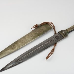 Antique eastern Russian? sword, niello