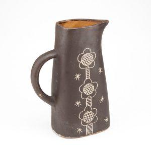Vintage Estonian Ceramic jug KFK Elgi Reemets