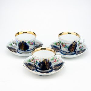 KUZNETSOV - Antique Russian porcelain tea cup & saucer