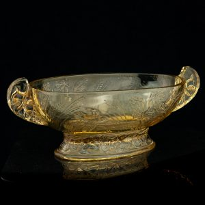 Antiqeu yellow glass bowl