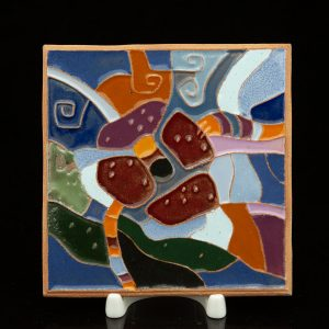 Estonian retro wall tile, Abstract KK 1992