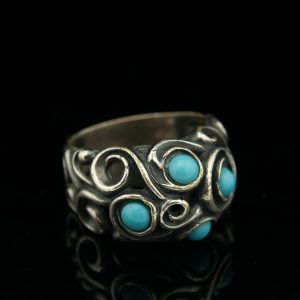 Vintage silver ring with turquoise