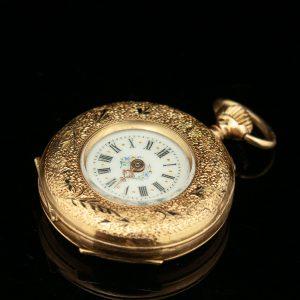Women's gold pocket watch