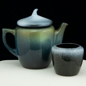 Estonian ceramic jug and cup