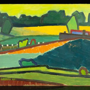 Ermi Littover (1921-2015) oil on carton, Rõuge 1964