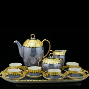 Antique Art Deco Czechoslovakia porcelain tea set