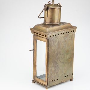 Antique brass candle lantern