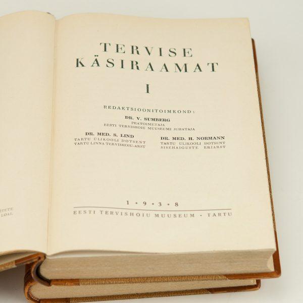 TERVISE KÄSIRAAMAT 1-2 osa 1938a