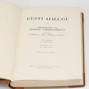 EESTI AJALUGU 1 osa 1936a