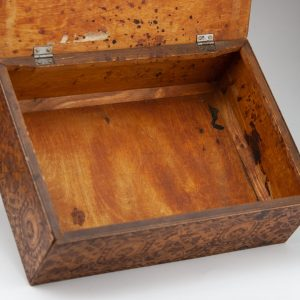 Antique national pattern wood box