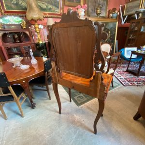 Antique mahogany boudoire table with mirror