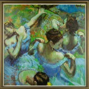 Oil painting of ballerinas