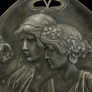 Antiikne juugend kandik, metall