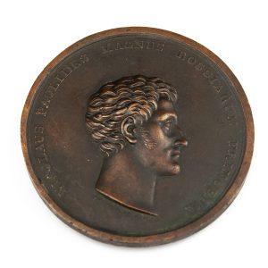 Antique Finnish bronze medall Nicolaus Paulides Magnus Rossiarum Princeps