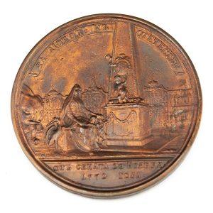 Antiikne Vene lauamedal Ivan Ivanovits Betskoi