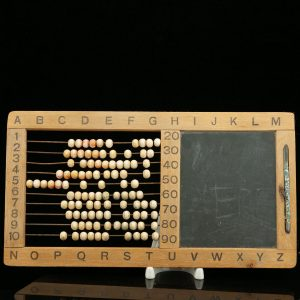 Antique studend chalkboard & calculator