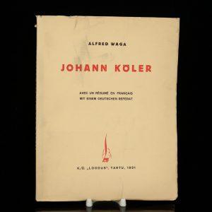 Alfred Waga raamat Johann Köler, 1931a
