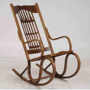 Art Nouveau rocking chair by  Gustav Siegel /Jacob & Josef Kohn  ca 1904