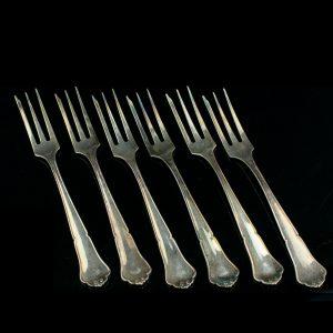 Magustoidu 6 kahvlit, 925 hõbe
