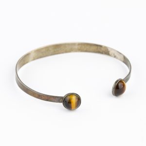 Finnish silver bracelet with tigers eye