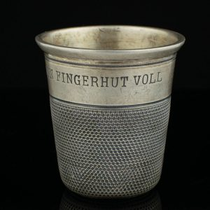 Antiikne Saksa joogitops, 800 hõbe ``Nur ein fingerhut voll``