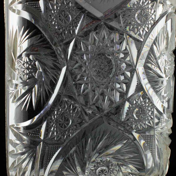 Antiikne kristallist alus 875 hõbe äär ja sang
