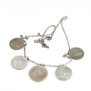 Kaelakee Rootsi müntidega, hõbe