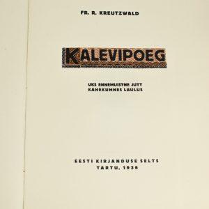EW raamat Kalevipoeg,Tartu 1936a
