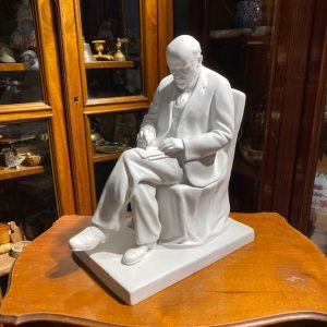 Soviet Russian LFZ Lomonosov porcelain figure of Lenin