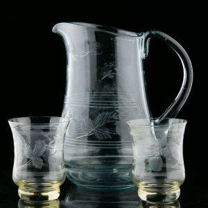 Tarbeklaasi klaasid maasikalihviga 2tk, Helga Kõrge 1958a