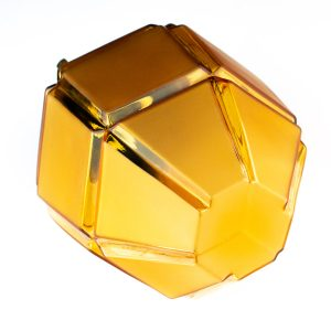 Art-deco laelamp, klaaskuppel